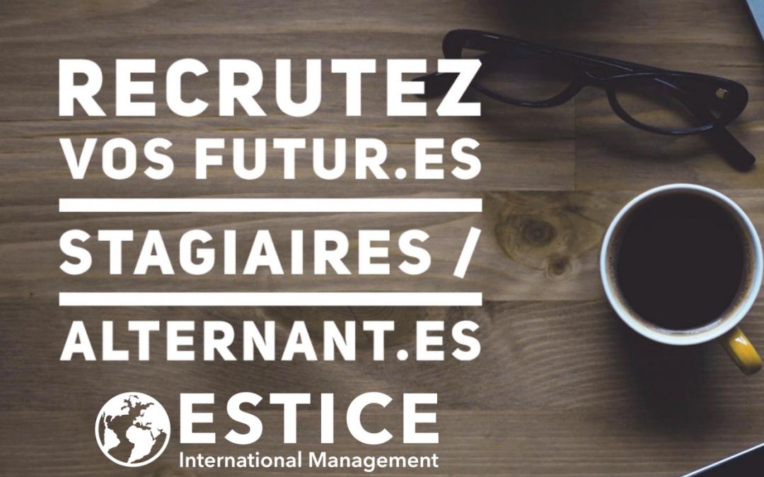 Recrutez vos futur.e.s stagiaires / alternant.e.s ESTICE